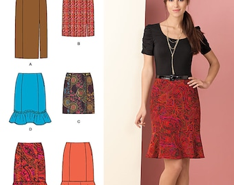Misses' Skirts Simplicity Pattern 1591