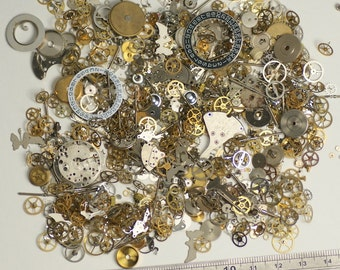 50g Watch parts Jewellery making steampunk altered art craft cyberpunk cogs gears crafts