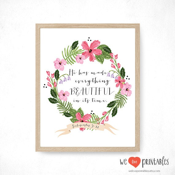 Wall Decor With Bible Verses : Bible verse art print printable wall decor by weloveprintables