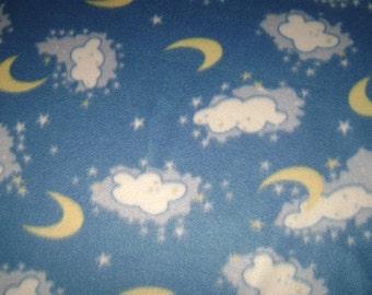 Moon & Clouds Fleece Blanket