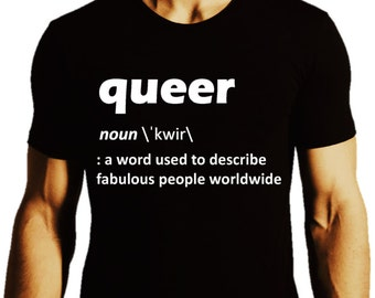 Our Definition of Queer_Fitted Black Tee_Men