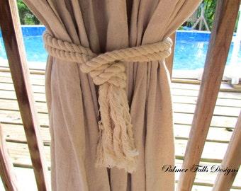Nautical Curtain Tiebacks Beach Decor Nautical Cotton