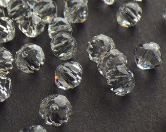 Rare Vintage Swarovski Crystal Beads, Article 5309/1, 6mm Crystal Beads, 20 Vintage Crystal Beads