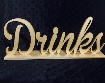 Drinks Sign for Wedding, Bridal Shower Sign, Work Event Sign,  Party Sign, Home Decor Sign