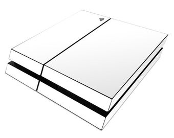3M white gloss Protective PS4/CONTROLLER vinyl skin wrap. White glossy. Combo package 1x console 2x controller skin.