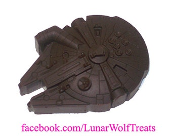 Giant Solid Chocolate Millennium Falcon