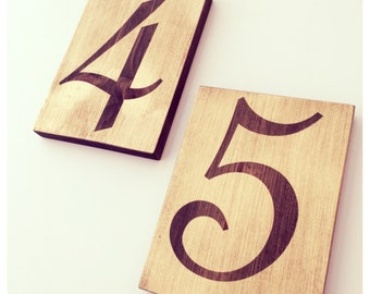 Gold table numbers, wedding table numbers, wedding reserved seating signs
