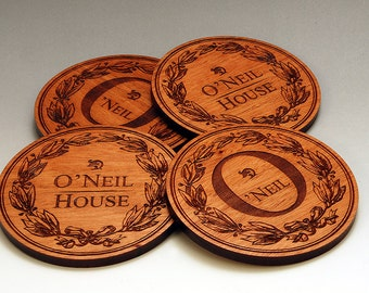 Personalized Wooden Coasters - Set of 4