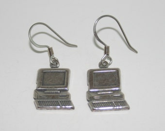 Silver Plated Computer Earrings