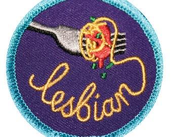 Spaghetti Lesbian Gay Merit Badge