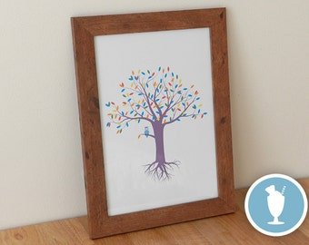 Owl in a Tree print