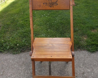 Dowd Vintage Wood Folding Chair