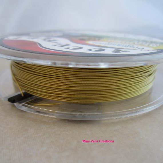 100 accu flex gold steel beading jewelry wire 49 strand