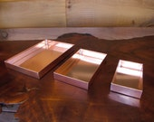 3 Pak - Solid Copper Trays