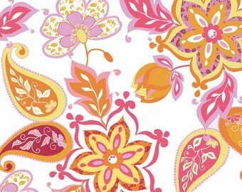 Laminated Cotton Fabric - Splendor Main White Laminate by Lila Tueller, waterproof fabric, laminated cotton.