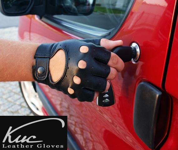 Кожаные перчатки для вождения автомобиля