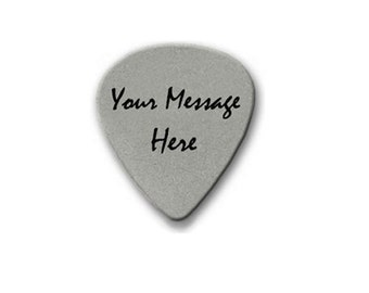 Custom Engraved Personalized Stainless Steel Guitar Pick