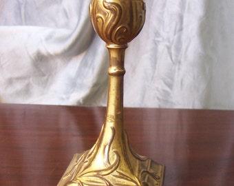 Antique Art Nouveau Candle holder Gilt Brass VGC!