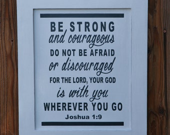 Hand Painted Inspirational Scripture Fine Lumber Sign