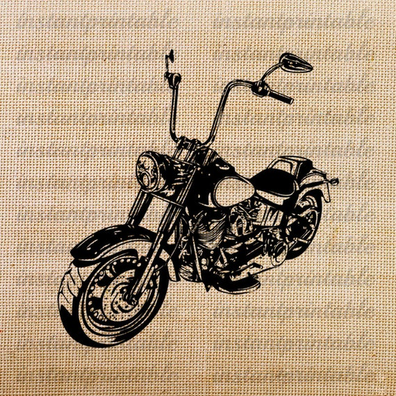 Old motorcycle download motorcycle clipart clip art fabric