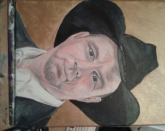 Garth Brooks Original Portrait.  A lovely image of Garth Brooks.  Original painting.  One of a kind.