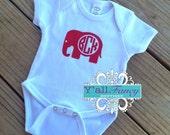 Roll Tide Alabama Elephant onesie - Y'all Fancy Baby Onesie