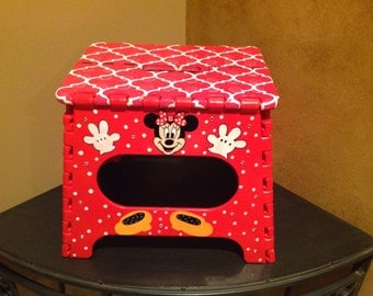 Hand Painted Child S Personalized Minnie Mouse Theme With