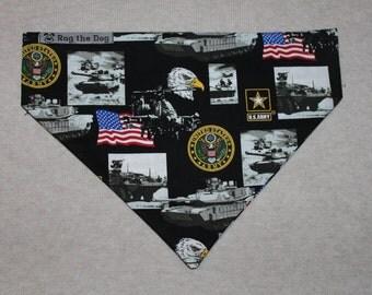 United States Army Dog Bandana in Small, Medium & Large