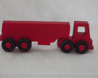 wooden tanker truck, push toy
