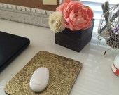 Gold Glitter Mouse Pad mousepad - Handmade