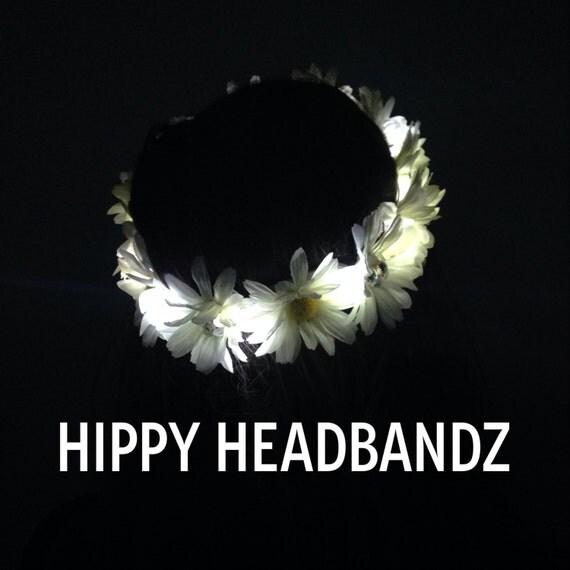 Led flower crown light up flower crown light up headband for Light up flower lamp