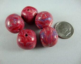 Polymer clay Pink bead set