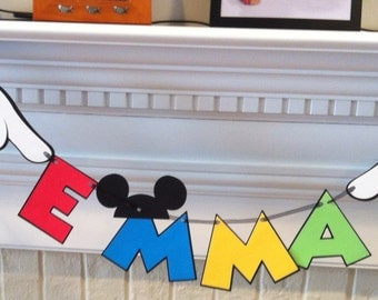 Mickey Mouse Name Banner - up to 7 characters