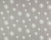 """SMALL DANDELIONS Premier Prints Fabric Grey Gray or choice of 4 colors-54"""" wide-Fabric By The yard decorator fabric Fast Shipping"""
