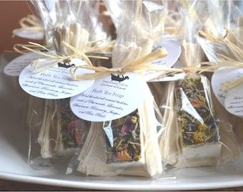24 Tea Favors - BATH TEA SOAP Favors for Baby Shower Favors, Bridal Shower Favors, Wedding Favors, Tea Party Favors