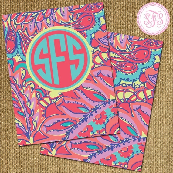 Items Similar To Personalized Monogram Lilly Pulitzer