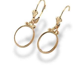 Clear Crystal Gemstones Gold Earrings, Dangle Earrings, Yellow Gold, Hanging Earrings, Dainty Earrings, Bridal Earrings, Wedding  Earrings