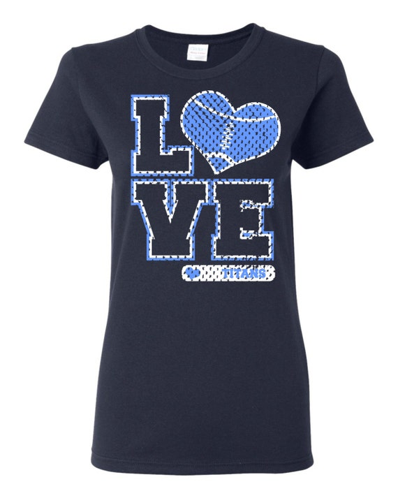 Love Titans Football Heart Custom T Shirt Free Shipping