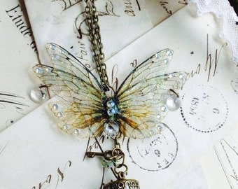 Enchanting faerie wings and wing keeper penant