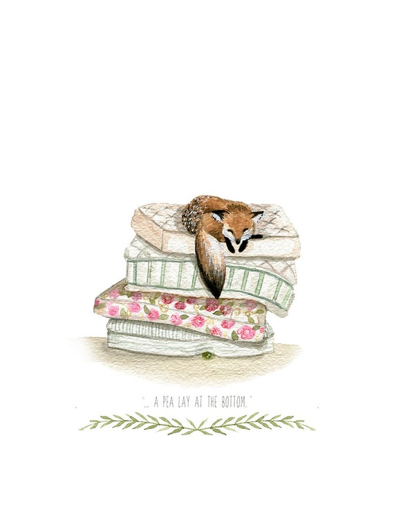Princess and the Pea- 8.5x11 Print