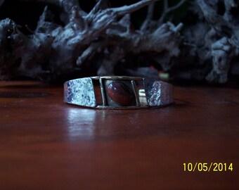 Sterling n Brass Cuff Bracelet.
