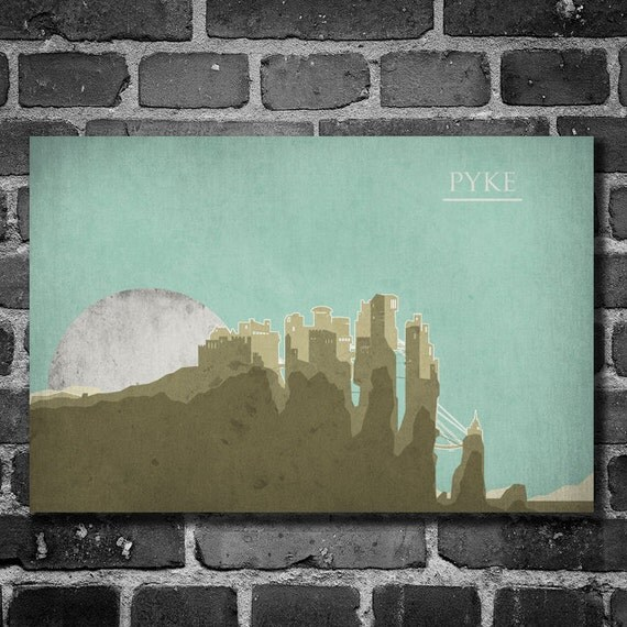 Game of Thrones poster movie art minimalist poster geekery art print sci fi print Pyke