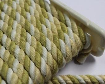 Yellow Gold White Braided Cording - Decorative Trim 543