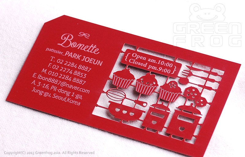 Chef business card | Etsy