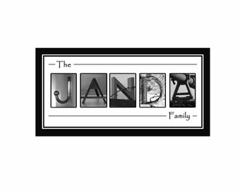 20x10 Personalized Alphabet Letter Name Print