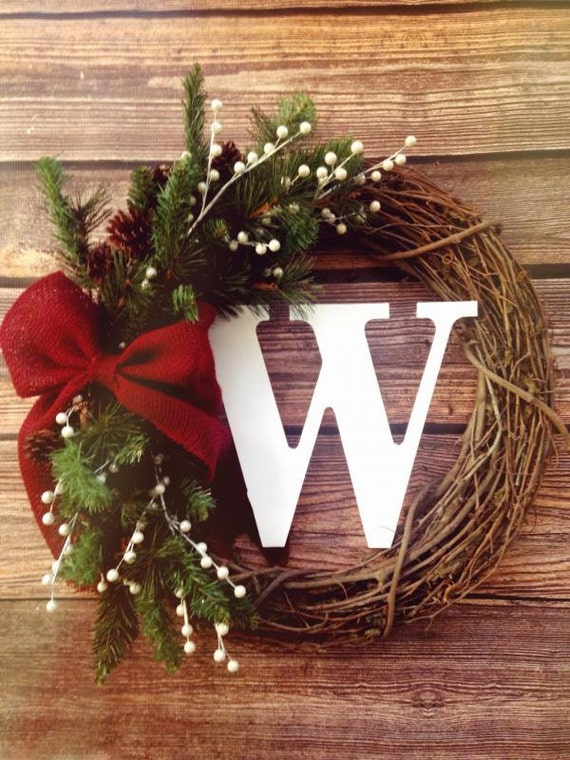Items Similar To Sale Holiday Rustic Grapevine Wreath