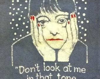 Dorothy Parker Quote Custom Batik Tshirt