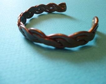 Copper Cuff Bracelet Boho Stacking Bangle Unisex 70's