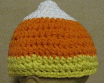 Candy Corn Baby Beanie hat