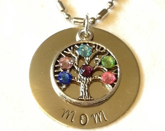 Mom necklace tree of life